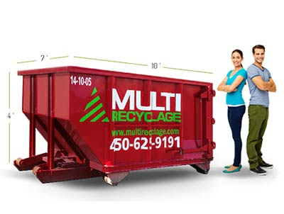 Rent a 10 yards dumpster for your reparations and minor renovation waste - Laval, Montreal, Laurentides