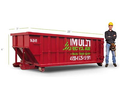 Rent a 20 yards dumpster for your reparations and renovations - Ecologic solution - Laval, Montreal, Laurentides