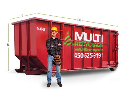 Rent a 40 yards dumpster for your reparations and major renovations - Laval, Montreal, Laurentides