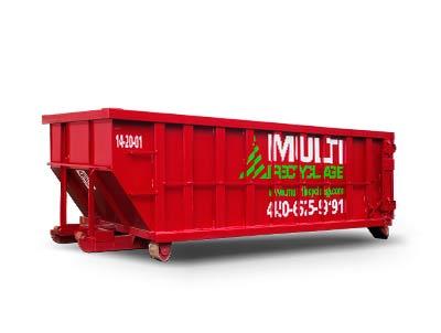 Location de conteneur de 20 verges pour déchets et recyclage pour démolition et rénovation commercial