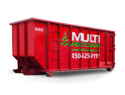 40-yard container rental for debris and recycling for demolition and commercial renovation - Laval, Montreal, Laurentidess